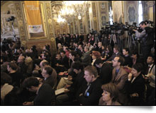 International journalists at the press conference - © J. Millet - Paris 2012