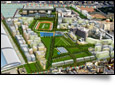 Aerial view of Olympic Village - © Archivideo simulation - Paris 2012